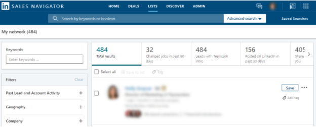 LinkedIn Sales Navigator Review of Features