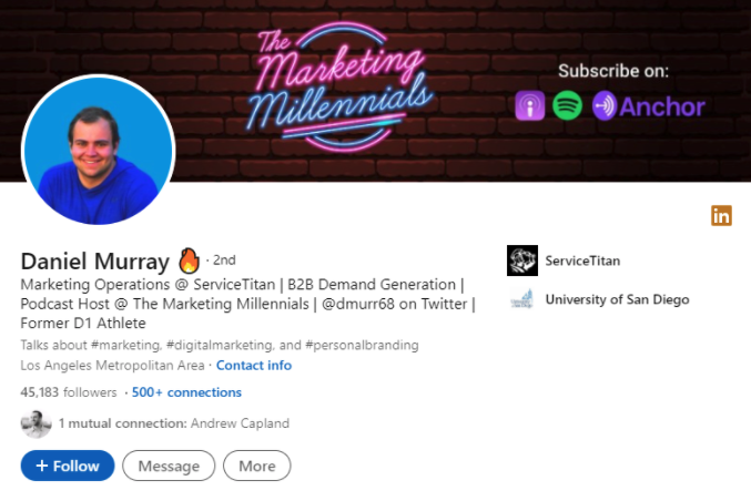 2nd degree linkedin connection